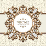 Vintage gold jewelry label Stock Image