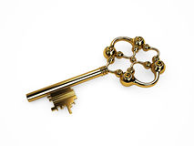 Vintage gold key Stock Photography