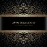 Vintage gold lace background Stock Photography