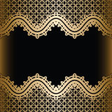 Vintage gold lace background Royalty Free Stock Images