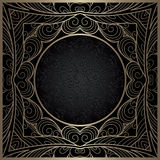 Vintage gold lace frame with round hole Royalty Free Stock Image