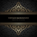 Vintage gold lacy background Royalty Free Stock Photography