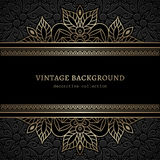 Vintage gold lacy background Royalty Free Stock Photo