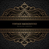 Vintage gold lacy background Stock Image