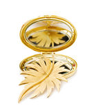 Vintage gold leaf brooch Royalty Free Stock Images