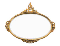 Vintage gold mirror Royalty Free Stock Photos