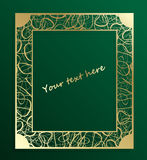 Vintage Gold openwork Frame. Decorative vector with place for text. EPS 10. Royalty Free Stock Image