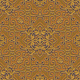 Vintage gold ornament, seamless pattern Stock Photography