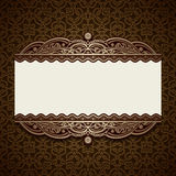Vintage gold ornamental card template Royalty Free Stock Images