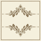 Vintage gold ornamental frame template Stock Photography