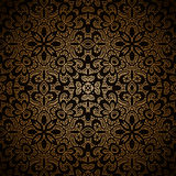 Vintage gold pattern. Vintage gold seamless pattern, ornamental background Royalty Free Stock Photography