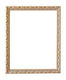 Vintage gold picture frame stock image