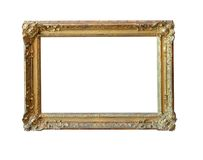 Vintage gold picture frame Royalty Free Stock Images