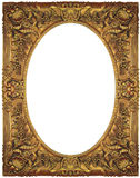Vintage gold picture frame Stock Images
