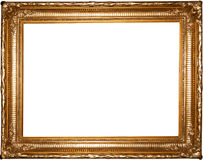 Vintage gold picture frame Stock Photos