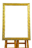 Vintage gold picture frame isolated Royalty Free Stock Images