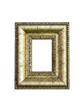 Vintage gold picture frame isolated Royalty Free Stock Image