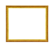 Vintage gold picture frame isolated Stock Photography
