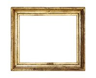 Vintage gold picture frame, patina Stock Photography