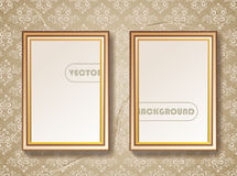 Vintage gold picture frame Royalty Free Stock Photos