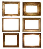 Vintage gold picture frames royalty free stock photos