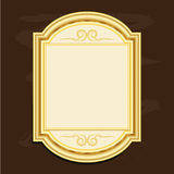 Vintage gold picture frames design vector illustration. Style Royalty Free Stock Photos