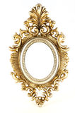 Vintage gold picture round frame stock photos