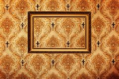 Vintage gold plated picture frame on Royalty Free Stock Image