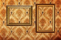Vintage gold plated picture frames on ��дд Stock Images