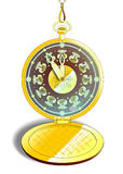 Vintage gold pocket watch in vector Royalty Free Stock Photos