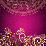 Vintage gold-purple frame Royalty Free Stock Photos