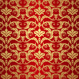 Vintage gold and red background