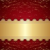 Vintage gold with a red background. Royalty Free Stock Image