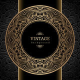 Vintage gold round frame Royalty Free Stock Images