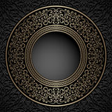 Vintage gold round frame Royalty Free Stock Photography