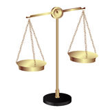 Vintage gold scale. On white background Royalty Free Stock Photography