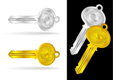 Vintage Gold and Silver Keys - Vector Stock Photos