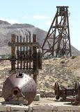 Vintage gold/silver mining equipment Royalty Free Stock Photos