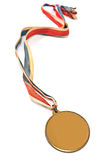 Vintage gold sport medal Royalty Free Stock Photos