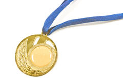 Vintage gold sport medal Royalty Free Stock Photography