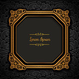 Vintage gold square frame Royalty Free Stock Photos