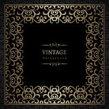 Vintage gold square frame Stock Photography