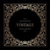 Vintage gold square frame Royalty Free Stock Images