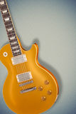 Vintage Gold top guitar Royalty Free Stock Image
