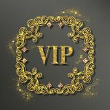 Gold Vector Frame Royalty Free Stock Photography