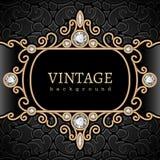 Vintage gold vignette Stock Images