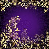 Vintage gold-violet frame Royalty Free Stock Photo