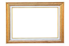 Vintage gold wood frame Royalty Free Stock Images