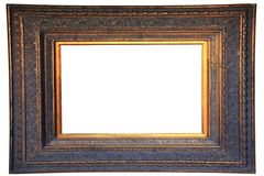 Vintage gold wood frame Royalty Free Stock Photo