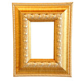 Vintage gold wood frame Stock Image